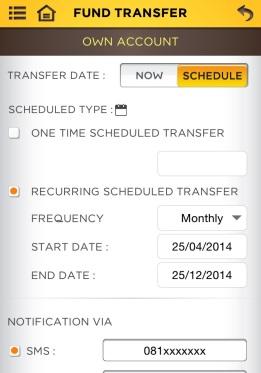 เราสามารถตั้งโอนเงินอัตโนมัติผ่านทาง App ได้เลย ปรกติผมจะตั้งทุกวันที่ 25 เพราะเป็นวันที่เงินเดือนออก